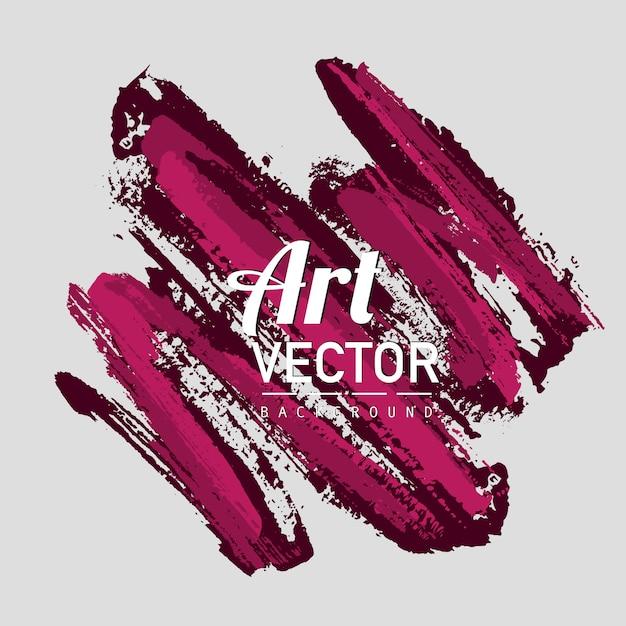 Art vector watercolor brush background Free Vector