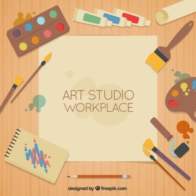 Шаблон студия art Бесплатные векторы