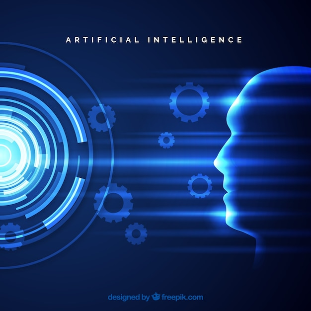 Artificial intelligence background in abstract style Free Vector
