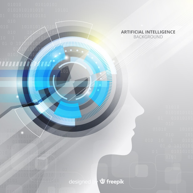 Artificial intelligence background Free Vector