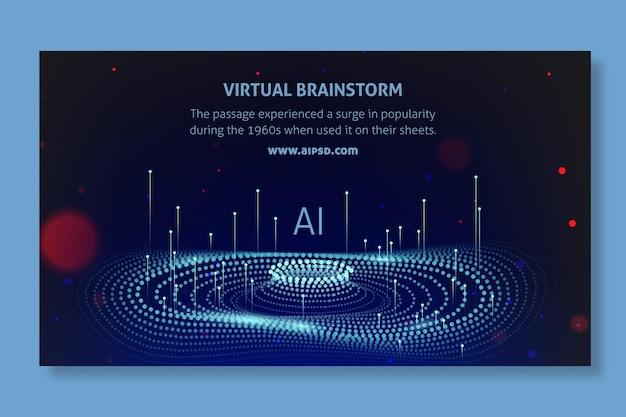 Баннер искусственного интеллекта Бесплатные векторы