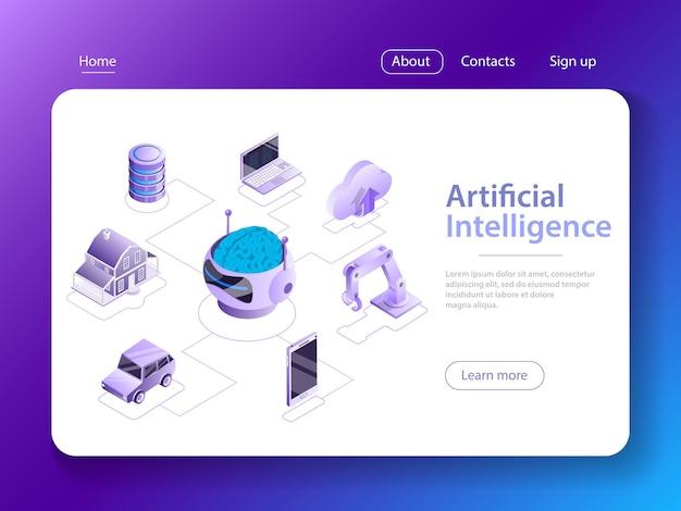 人工知能、ビッグデータ、サイバーマインド、機械学習、デジタルブレイン、サイバーブレイン。 Premiumベクター