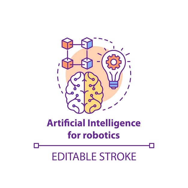 Artificial intelligence composition Premium Vector