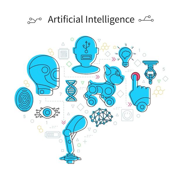人工知能のコンセプト 無料ベクター