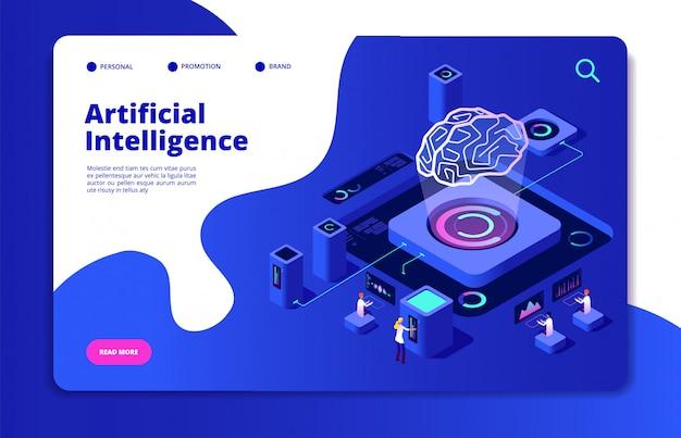 Artificial intelligence concept. Premium Vector