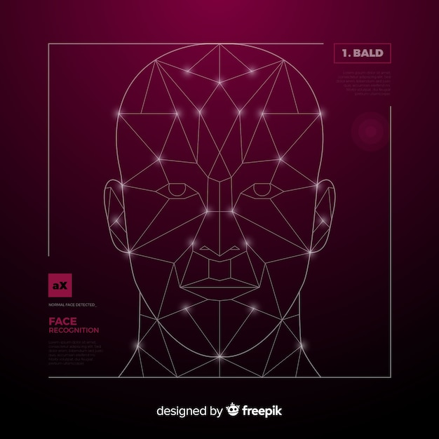 Artificial intelligence face recognition Free Vector