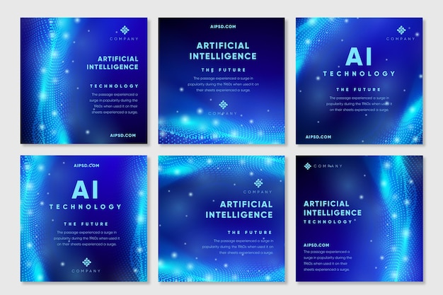 Post di instagram di intelligenza artificiale Vettore gratuito