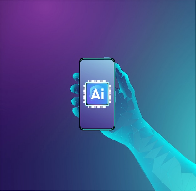 Artificial intelligence processor concept design Premium Vector