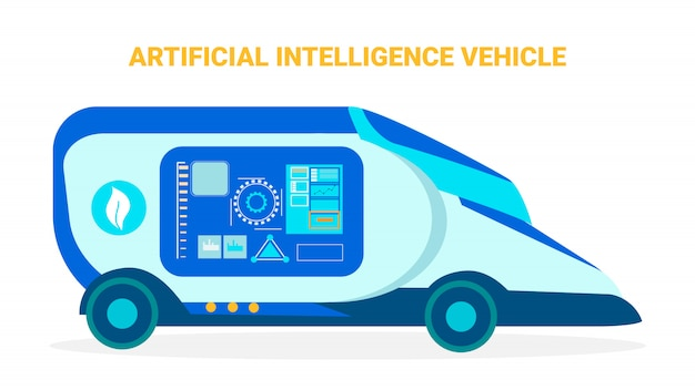 Artificial intelligence vehicle banner template Premium Vector