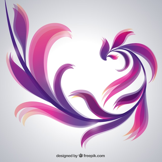 Artistic abstract background in purple tones Free Vector