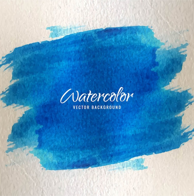 Artistic background with watercolor texture, blue color