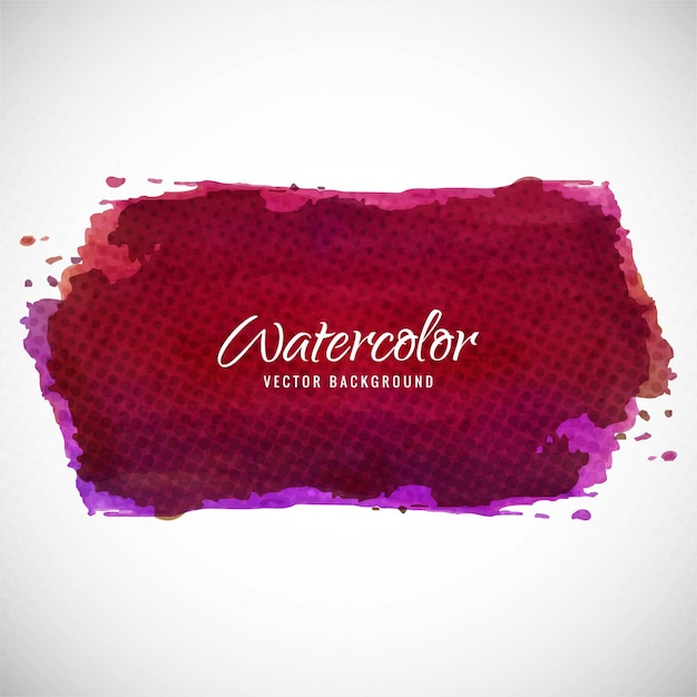 Artistic background with watercolor texture, dark red color