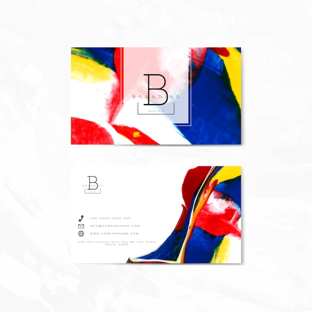 Artistic branding card Free Vector