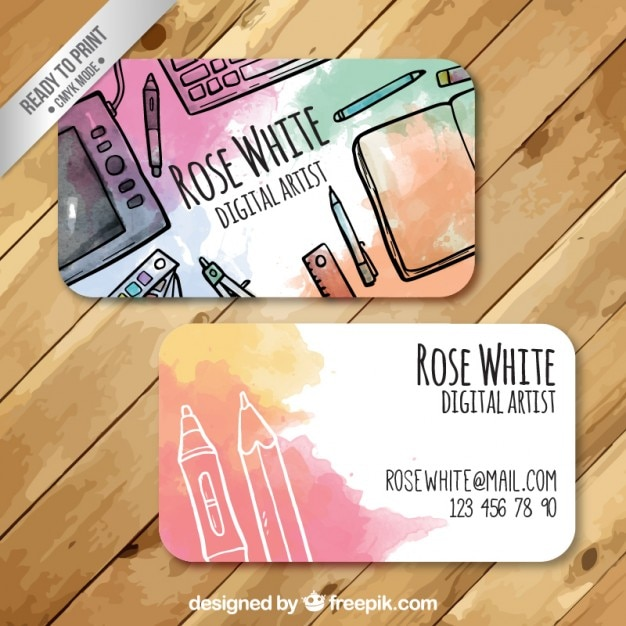 Artistic business card vector premium download artistic business card premium vector colourmoves