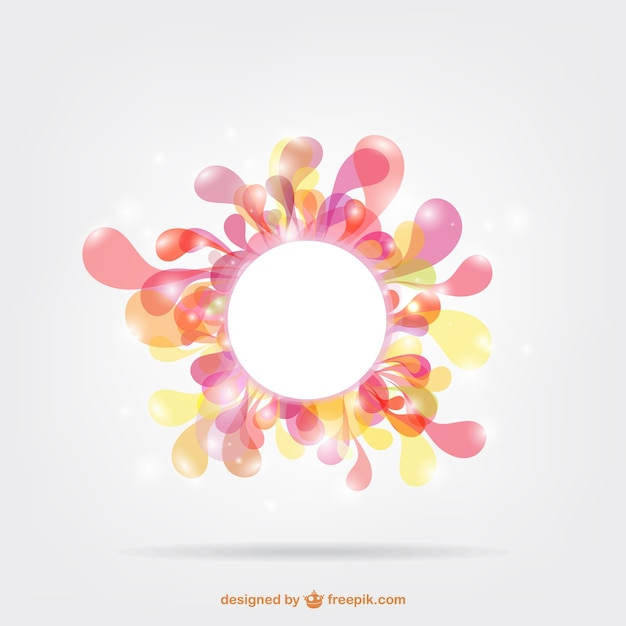 Artistic circular frame