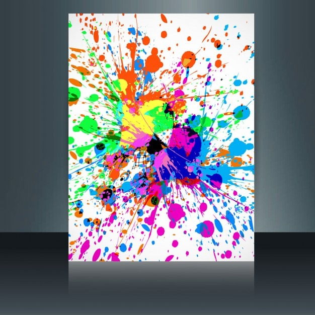 artistic colorful holi card vector free download