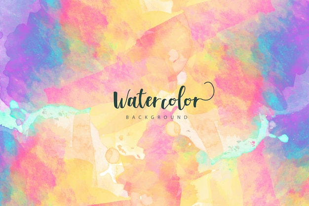 Artistic colorful watercolor background Free Vector