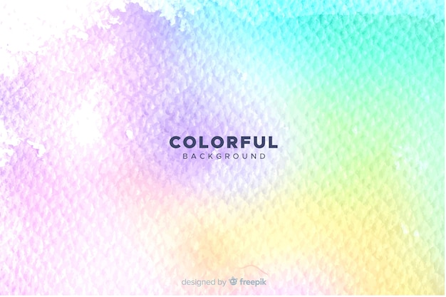 Artistic colorful watercolor style background Free Vector