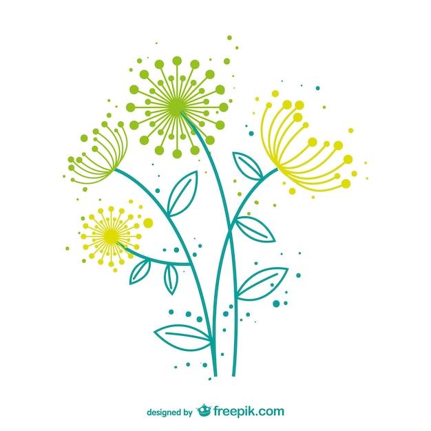 Artistic dandelion vector Free Vector