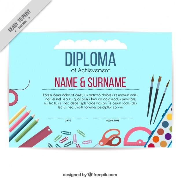 artistic diploma of children vector  artistic diploma of children vector