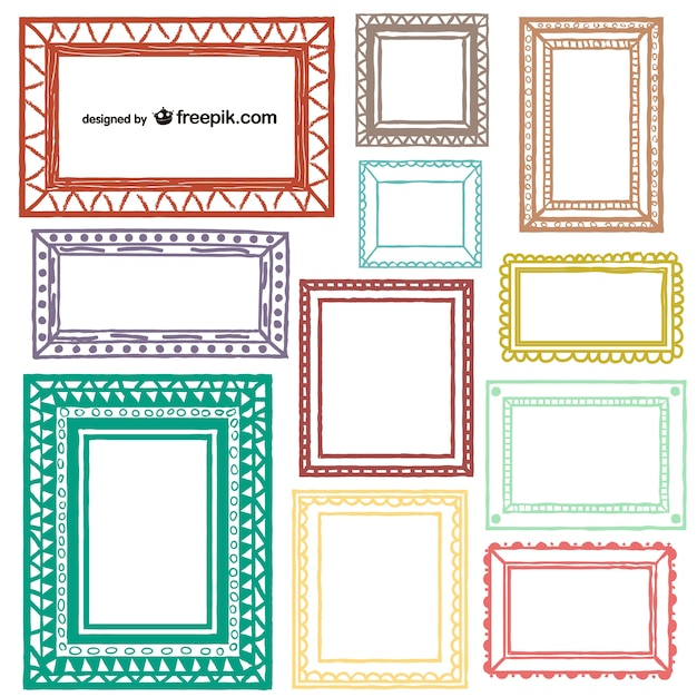 Artistic frames collection Vector | Free Download