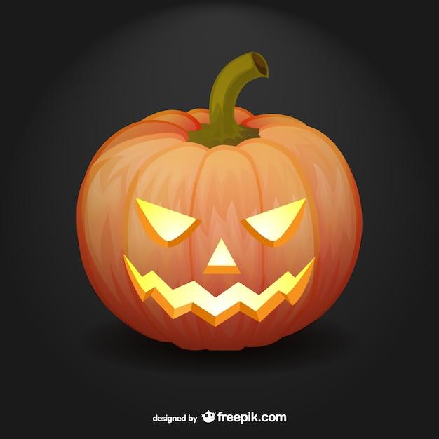 artistic halloween pumpkin vector vector | free download