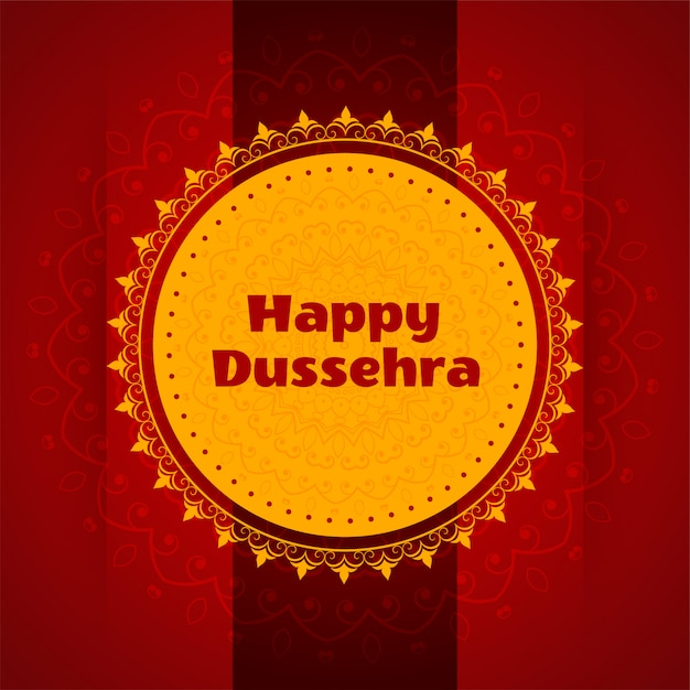 Artistic happy dussehra festival card Free Vector