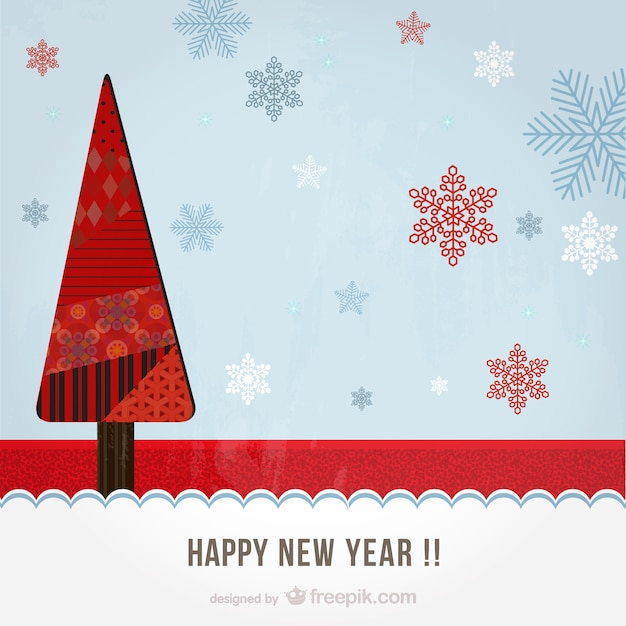 artistic happy new year background free vector