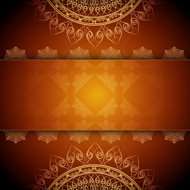 Artistic luxury mandala design Free Vector