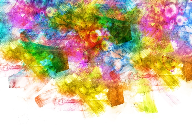 Artistic multicolored hand painted background Free Vector