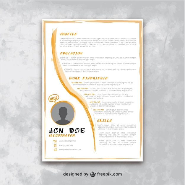 Artistic resume template Vector | Premium Download