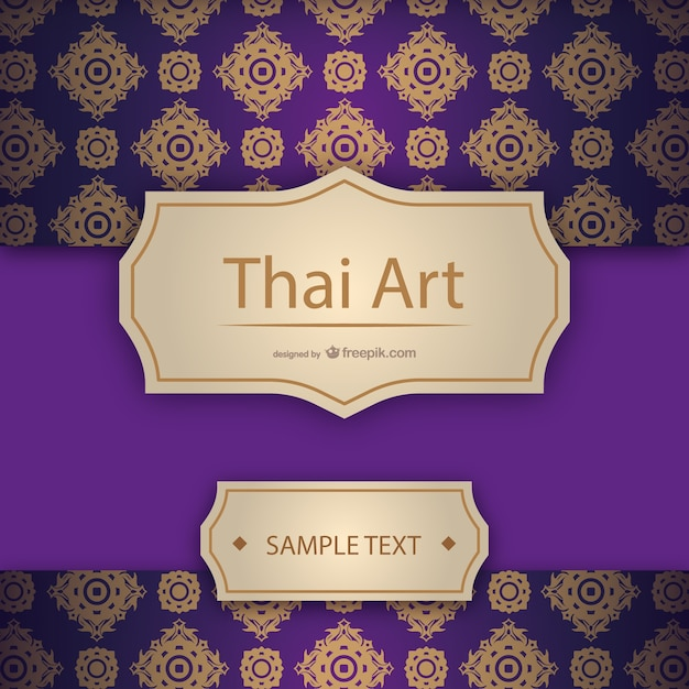 Artistic thai template Free Vector