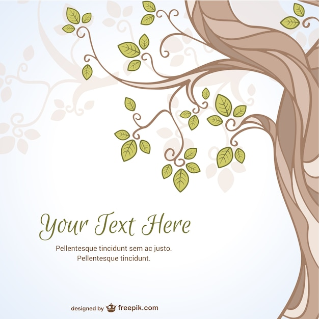 Artistic tree and leaves background