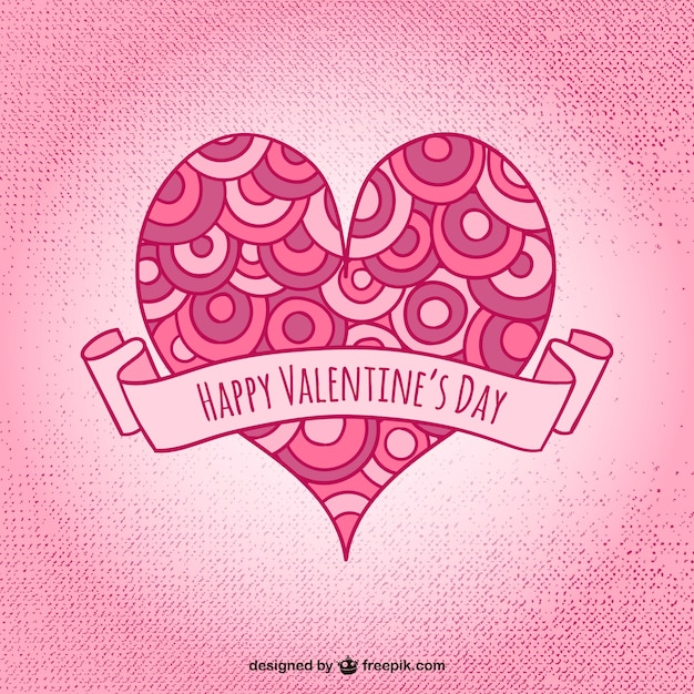 Artistic Valentine heart