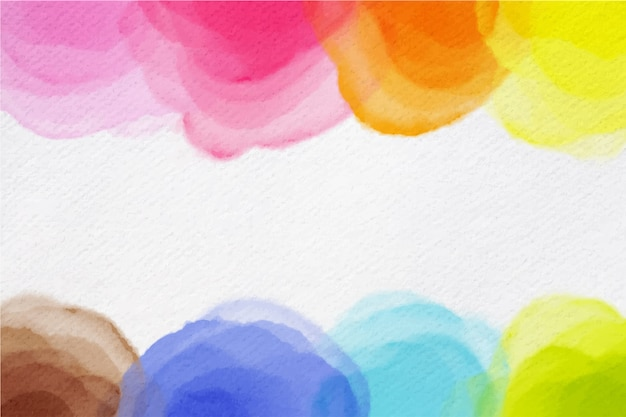 芸術的な水彩デザインの背景 無料ベクター