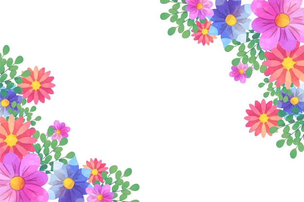 Concetto floreale del fondo dell'acquerello artistico Vettore gratuito