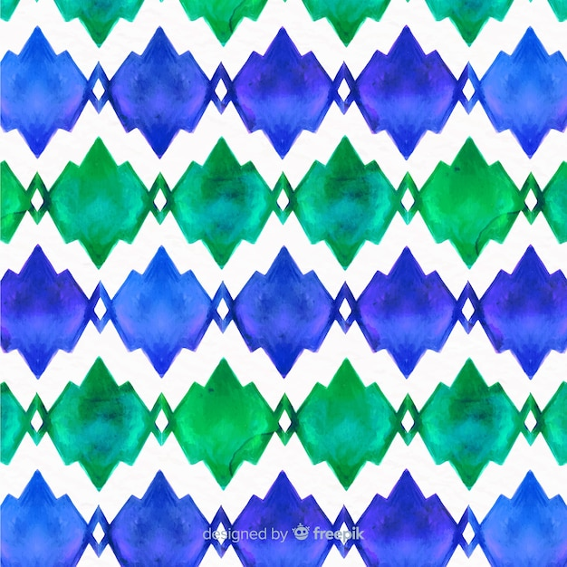 Artistic watercolor mosaic background Free Vector