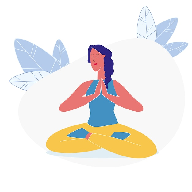 Asana, yoga exercise flat vector illustration Premium Vector