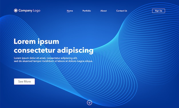 Asbtract background website abstract landing page template Premium Vector