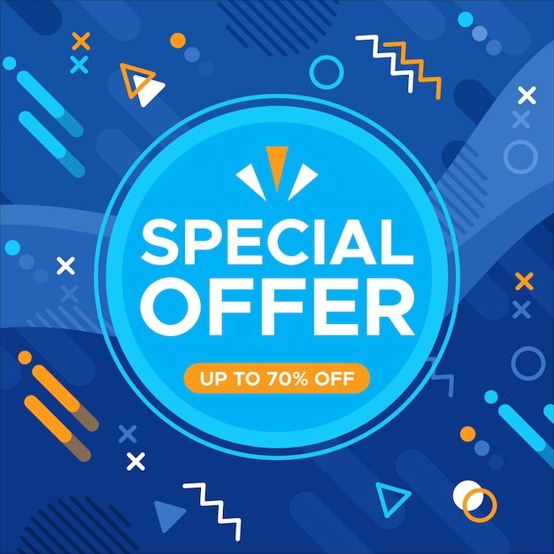 Asbtract colorful sales background concept Free Vector