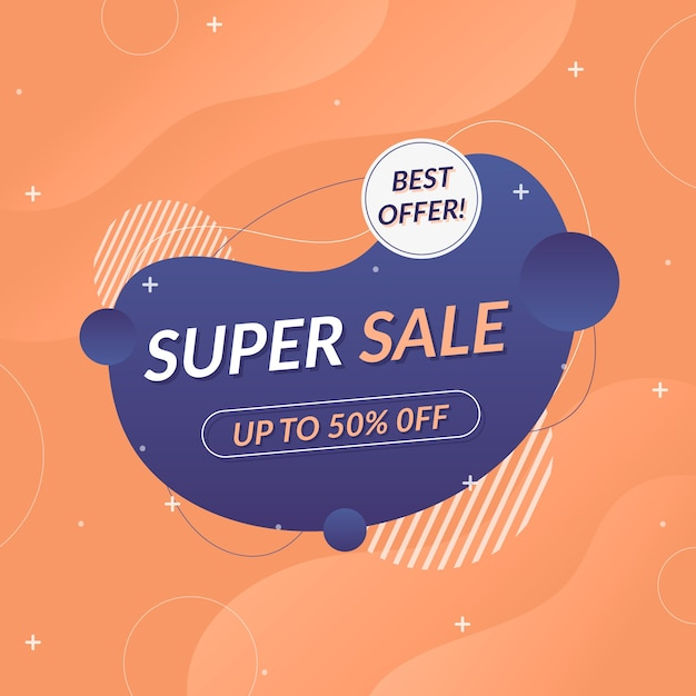 Asbtract colorful sales background Free Vector
