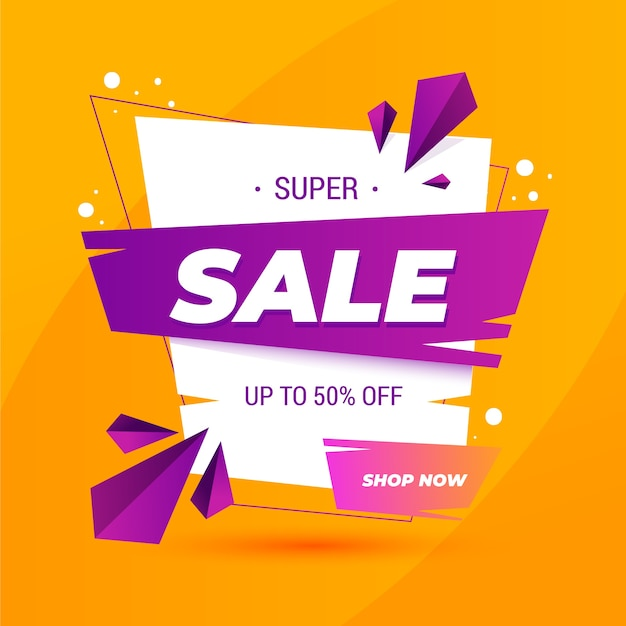 Asbtract colorful sales background Premium Vector