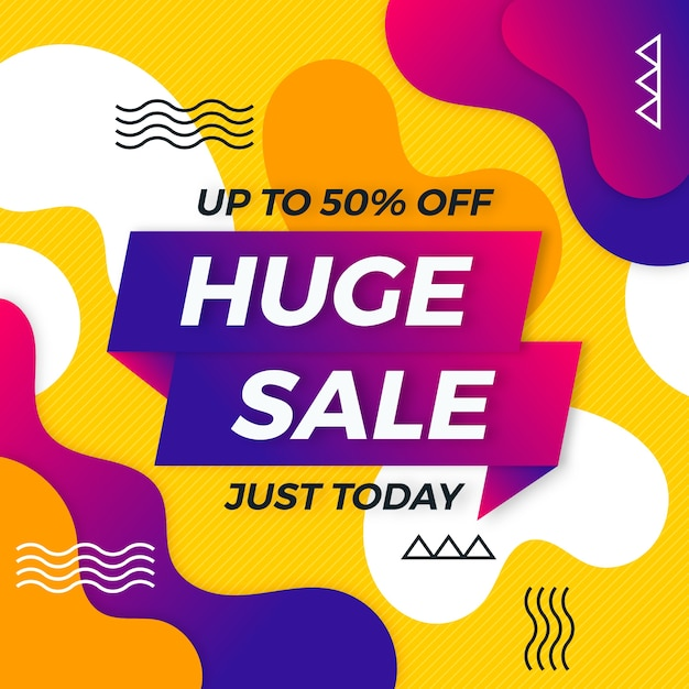Asbtract colorful sales banner Free Vector