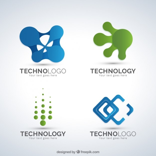 Asbtract Shapes Technology Logos Pack Vector Free Download