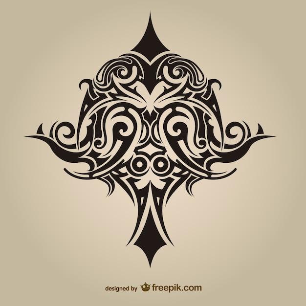 Племенной asbtract тату вектор дизайн Бесплатные векторы