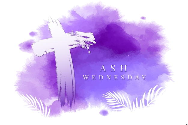 Ash wednesday background in watercolor Free Vector
