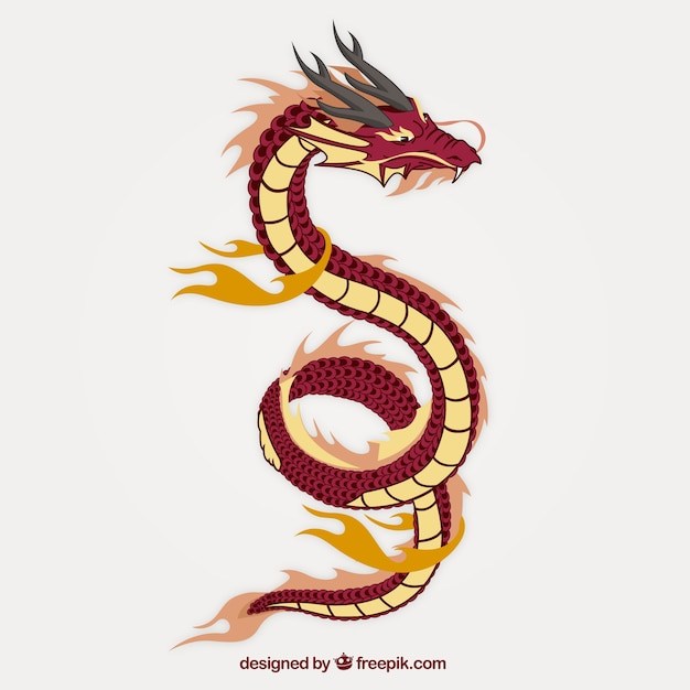 Asian dragon Free Vector