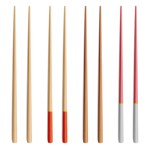 Asian food chopsticks Premium Vector