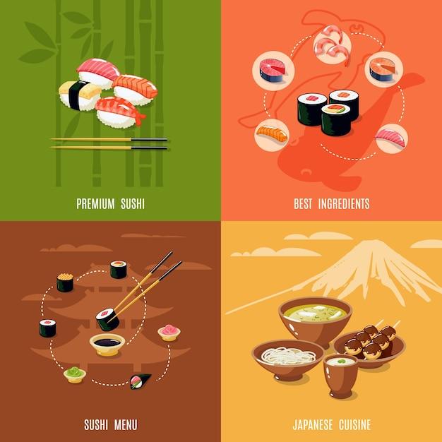 Asian food design concept Free Vector
