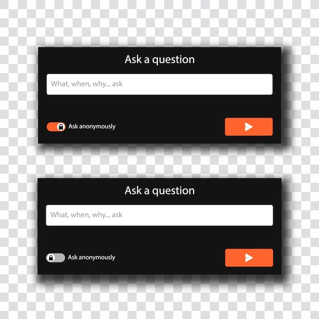 Ask a question panel Premium Vector